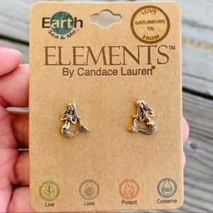 Jewelry - NWT Mermaid Bronze Stud Earrings